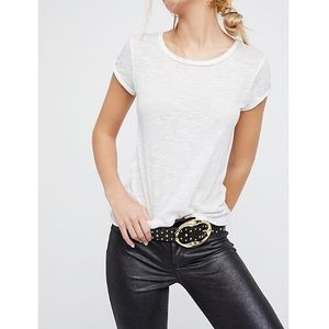 Free People Off Duty Studded Belt Faux Leather